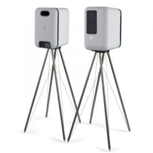 Q Acoustics Q FS75 Tensegrity Speaker Floor Stand Pair With Speakers