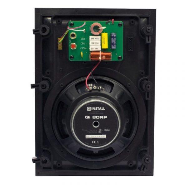 Q Acoustics QI80RP Speaker 8.0″ In-Wall Speaker Rear On White Background