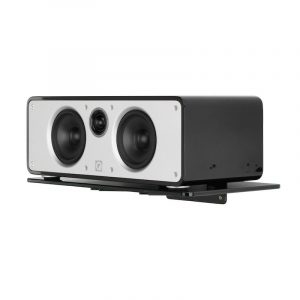 QA2130 Q Acoustics Centre Speaker Glass Wall Mount With Speaker On White Background