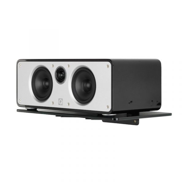 QA2130 Q Acoustics Centre Speaker Glass Wall Mount With Speaker On White Background