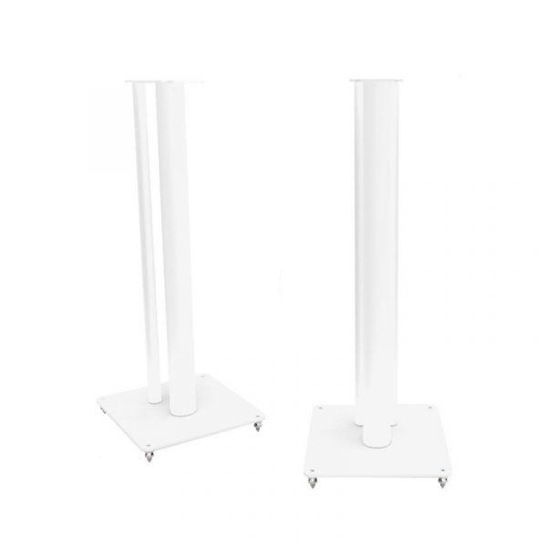 QA3104 Speaker Stand In Textured White Satin On White Background