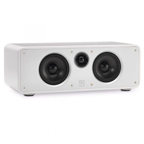 Q Acoustics Concept 20 Centre Speaker In Gloss White On White Background