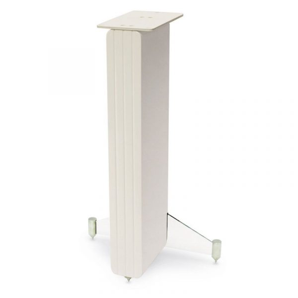 Q Acoustics Concept 20 Speaker Stands In White Gloss On White Background