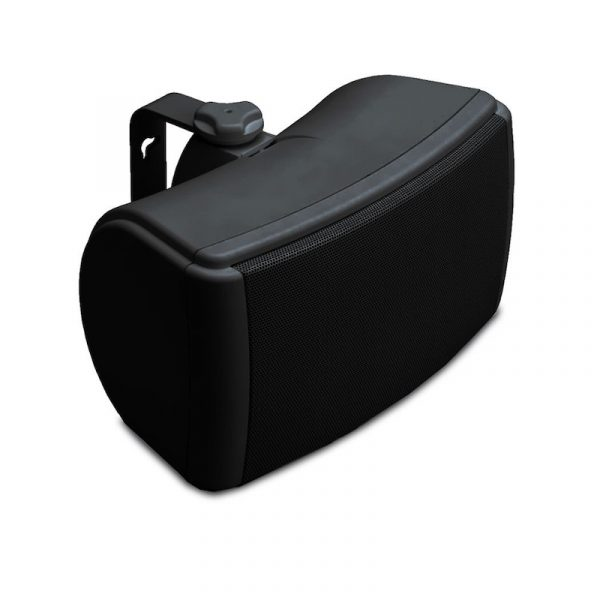 Q Acoustics QI45EW All Weather Speaker In Black On White Background